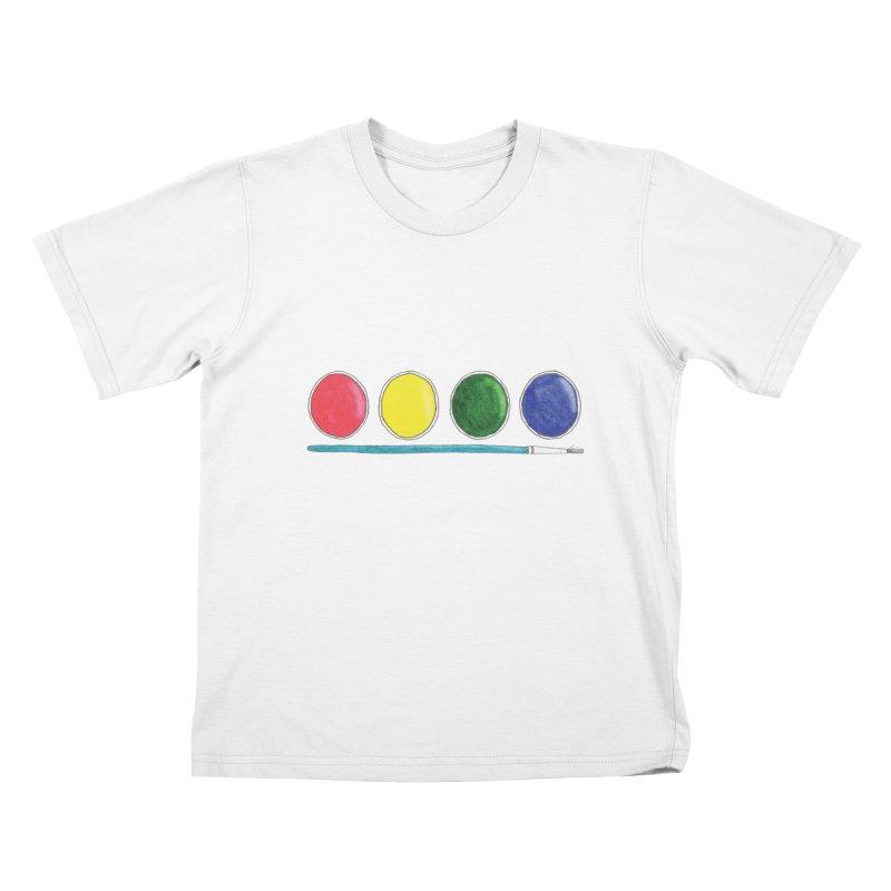 Watercolors Kids T-Shirt by Nick's Artist Shop