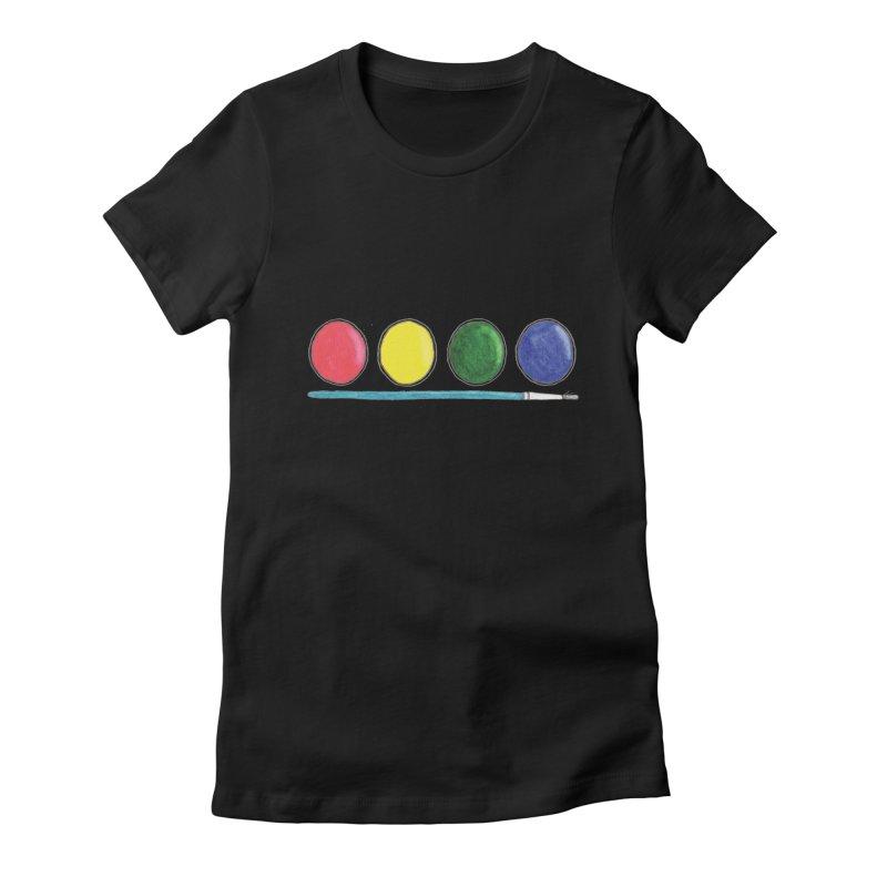 Watercolors Women's T-Shirt by Nick's Artist Shop