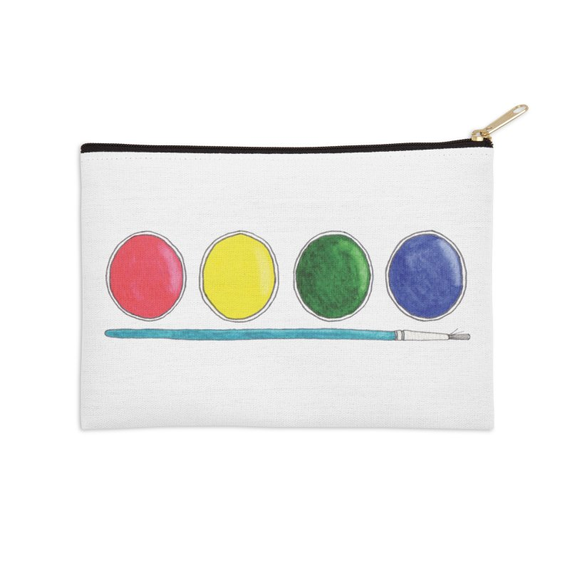 Watercolors Accessories Zip Pouch by Nick's Artist Shop