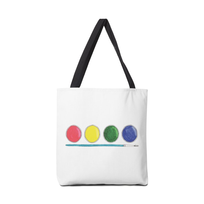 Watercolors Accessories Tote Bag Bag by Nick's Artist Shop