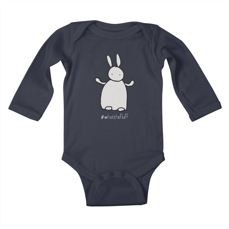 WTF Bunny Kids Baby Longsleeve Bodysuit by Nick's Artist Shop
