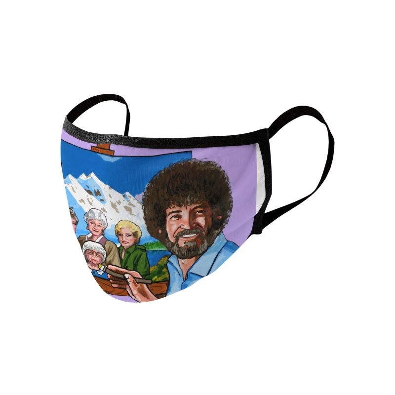Bob Ross / Golden Girls mask Accessories Face Mask by Two Thangs Artist Shop