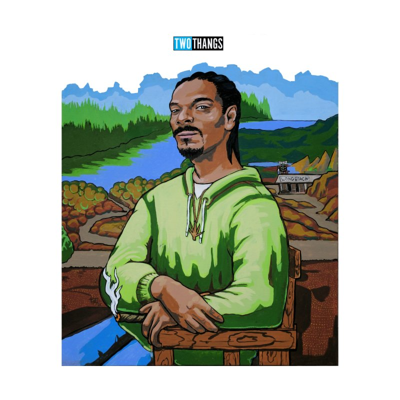 Snoop Dogg and Mona Lisa by Two Thangs Artist Shop