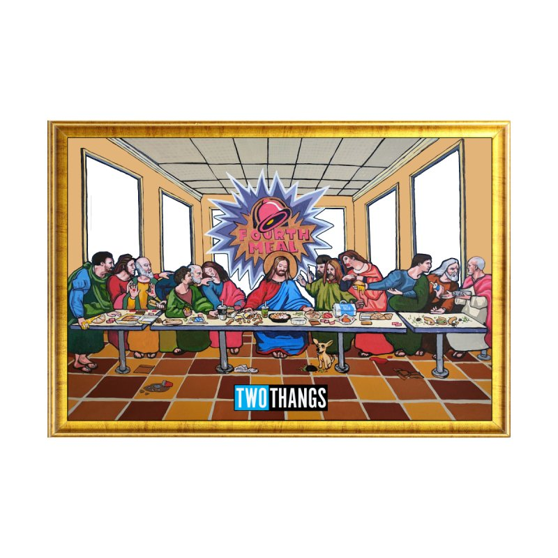 The Last Supper / Taco Bell Home Throw Pillow by Two Thangs Artist Shop