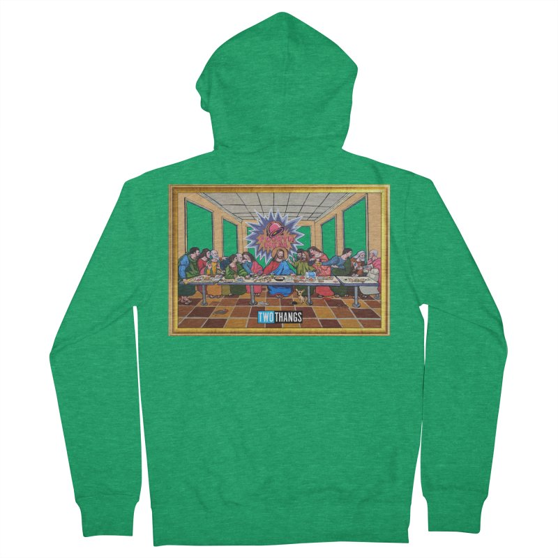 The Last Supper / Taco Bell Men's Zip-Up Hoody by Two Thangs Artist Shop