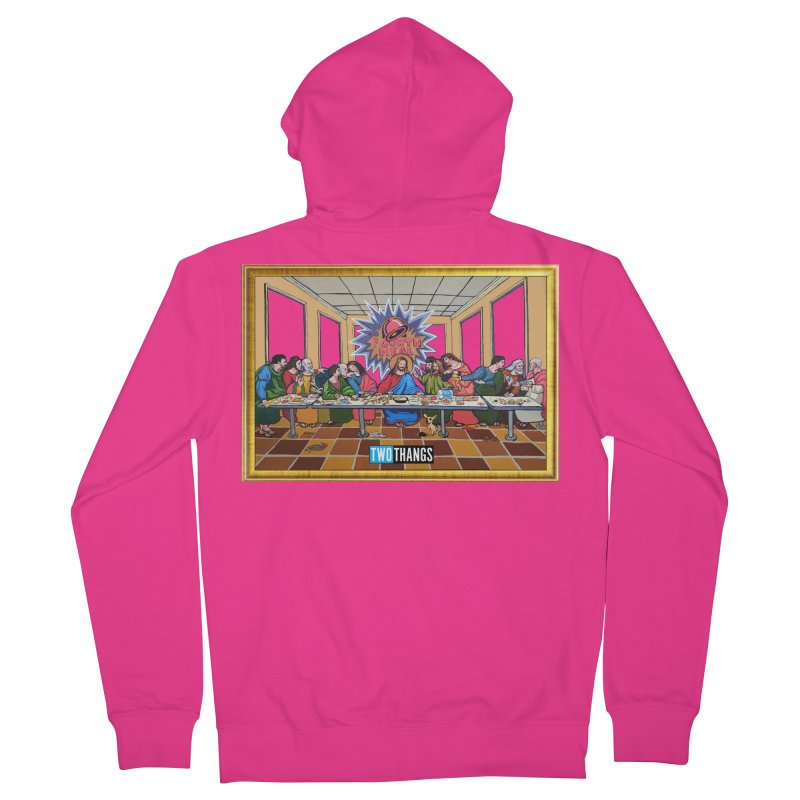 The Last Supper / Taco Bell Men's French Terry Zip-Up Hoody by Two Thangs Artist Shop