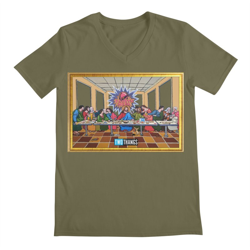 The Last Supper / Taco Bell Men's Regular V-Neck by Two Thangs Artist Shop