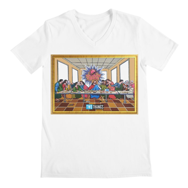 The Last Supper / Taco Bell Men's V-Neck by Two Thangs Artist Shop