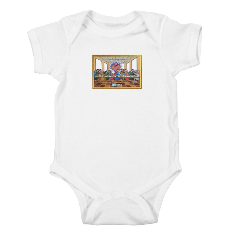 The Last Supper / Taco Bell Kids Baby Bodysuit by Two Thangs Artist Shop