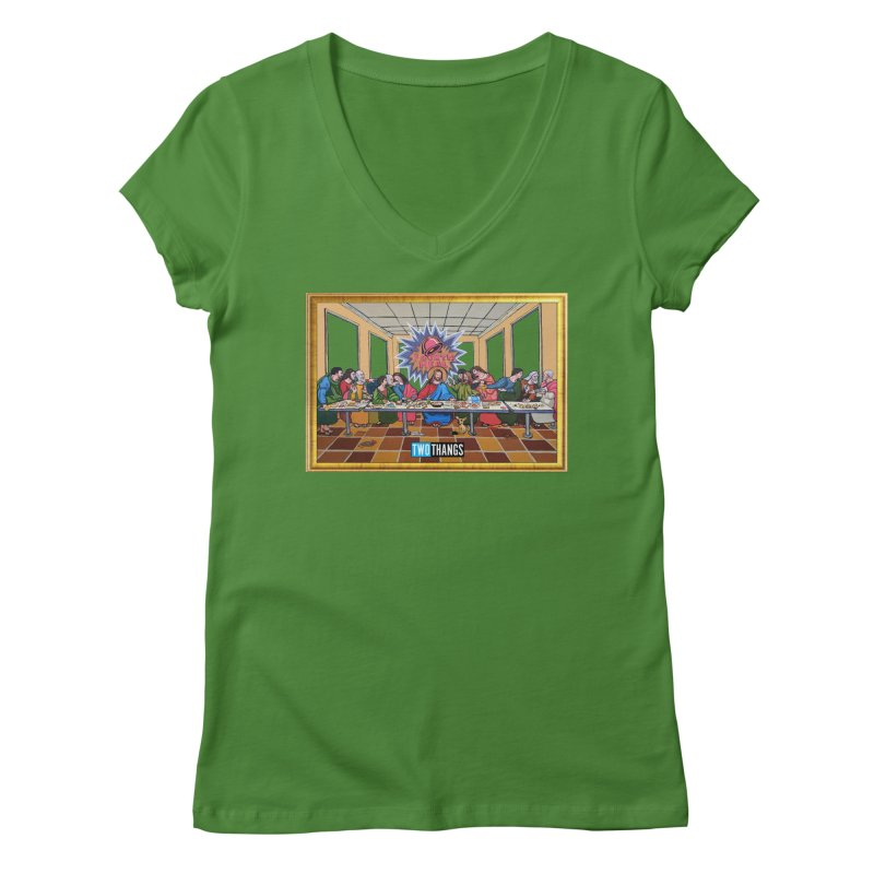 The Last Supper / Taco Bell Women's V-Neck by Two Thangs Artist Shop