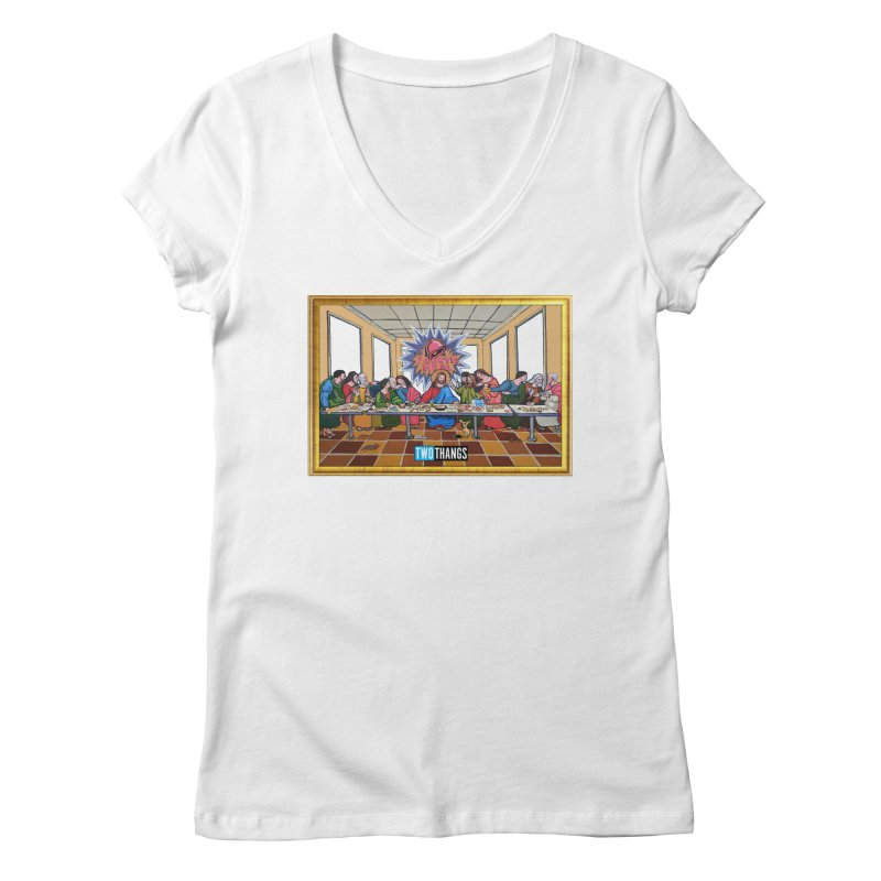 The Last Supper / Taco Bell Women's Regular V-Neck by Two Thangs Artist Shop