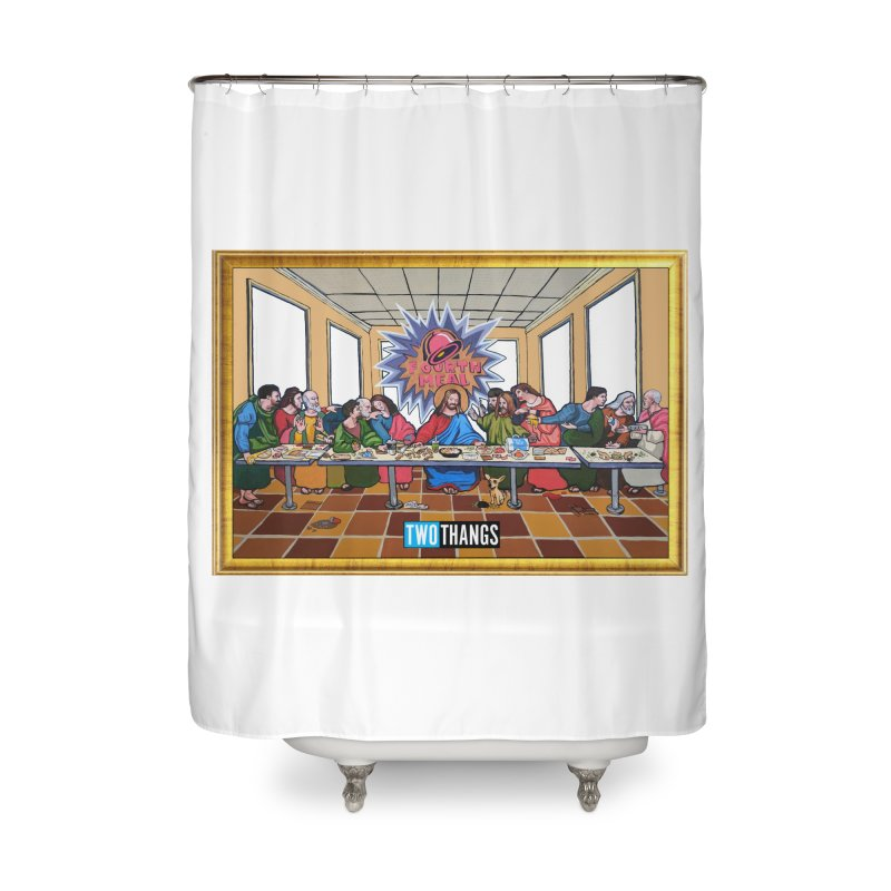 The Last Supper / Taco Bell Home Shower Curtain by Two Thangs Artist Shop