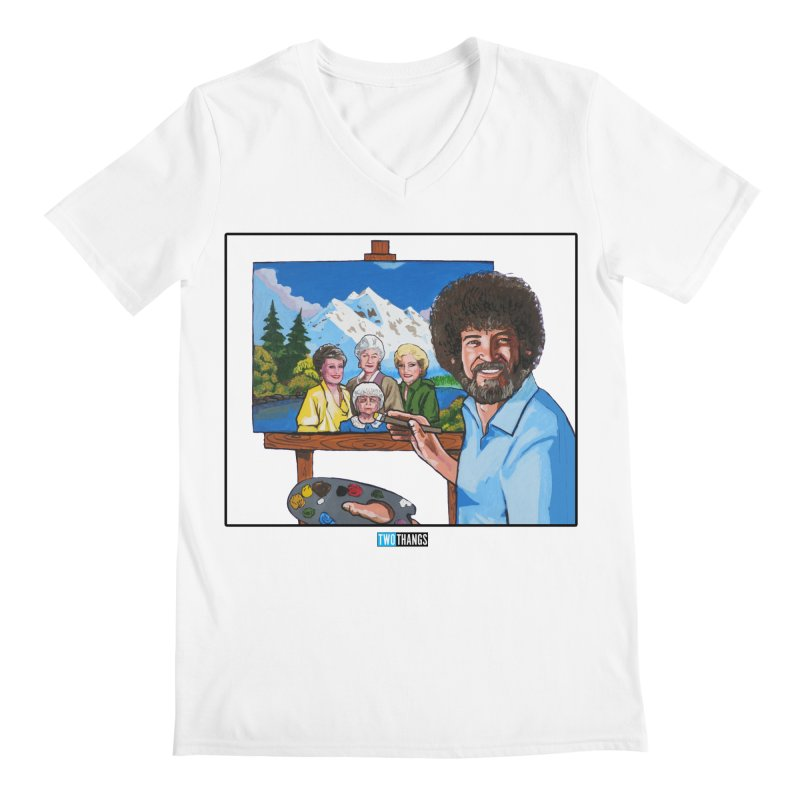 the Golden Girls get their portrait painted Men's V-Neck by Two Thangs Artist Shop