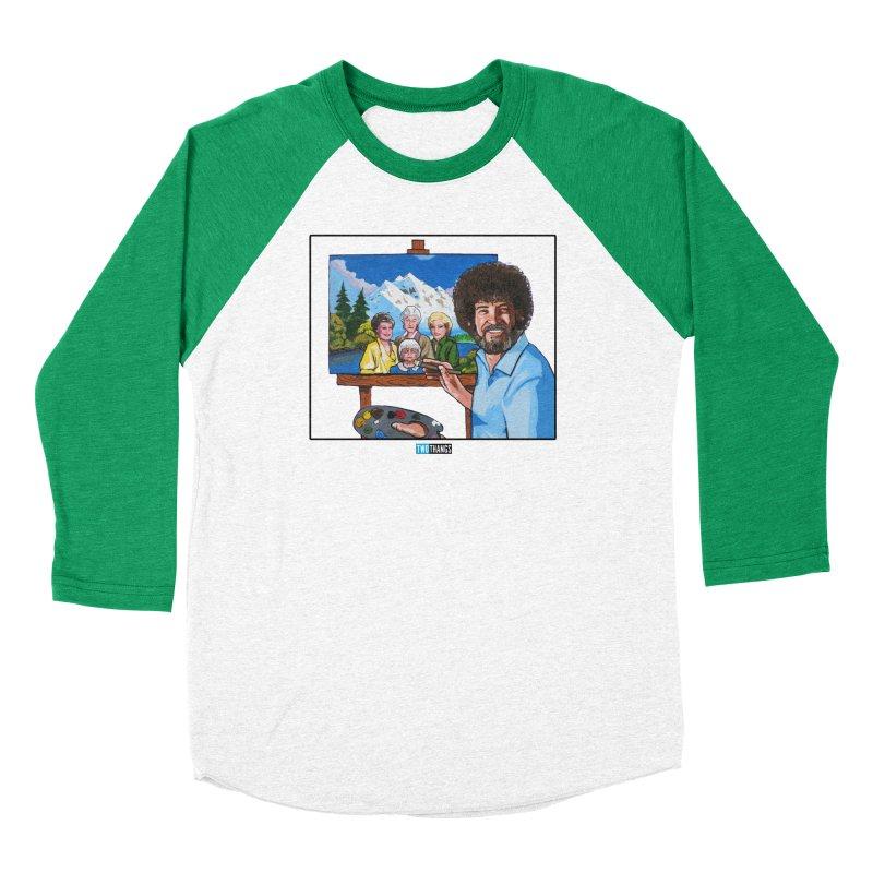 the Golden Girls get their portrait painted Men's Baseball Triblend Longsleeve T-Shirt by Two Thangs Artist Shop