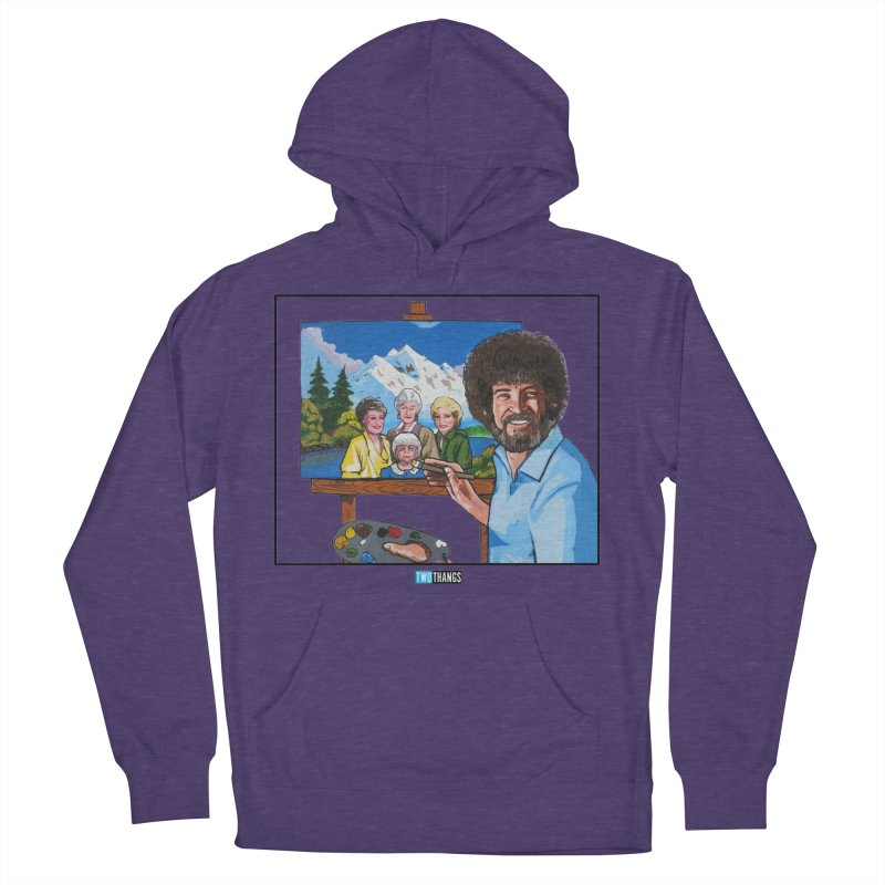 the Golden Girls get their portrait painted Men's French Terry Pullover Hoody by Two Thangs Artist Shop