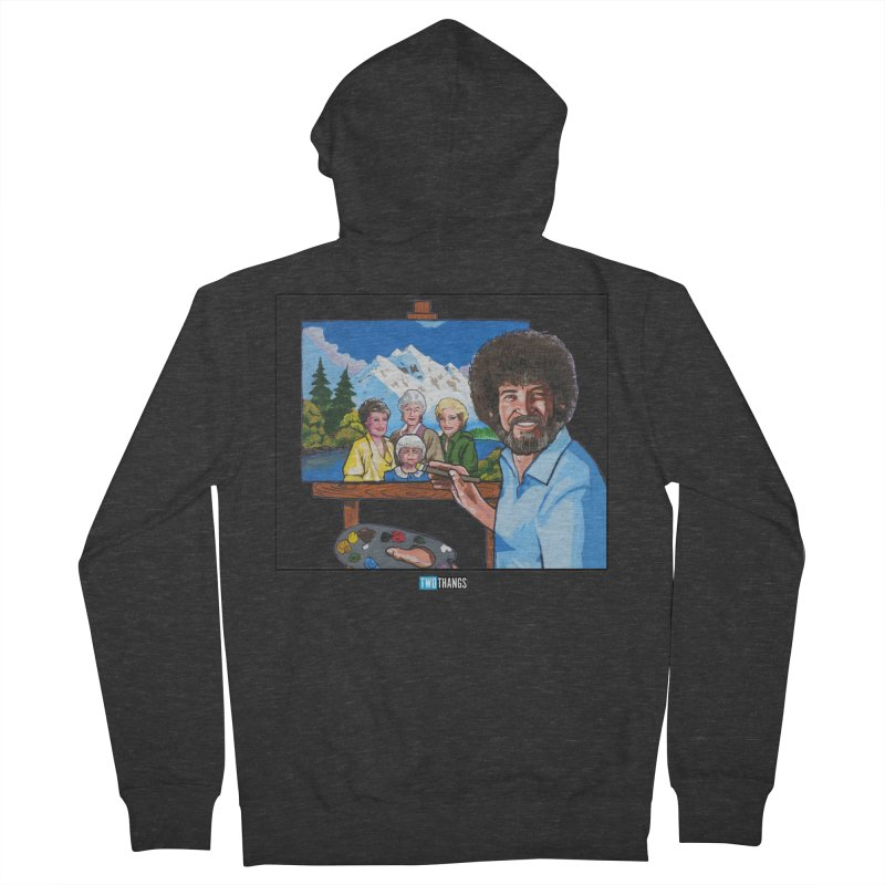 the Golden Girls get their portrait painted Women's French Terry Zip-Up Hoody by Two Thangs Artist Shop