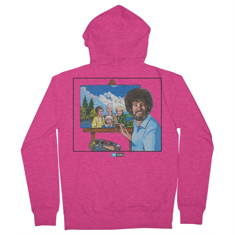 the Golden Girls get their portrait painted Women's Zip-Up Hoody by Two Thangs Artist Shop