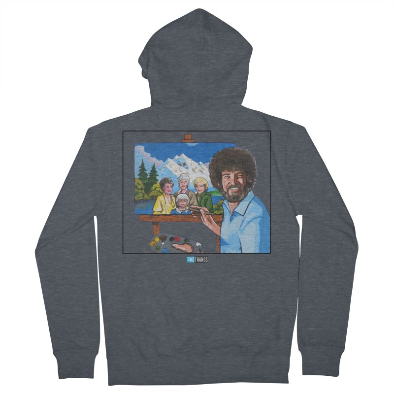 the Golden Girls get their portrait painted Men's French Terry Zip-Up Hoody by Two Thangs Artist Shop