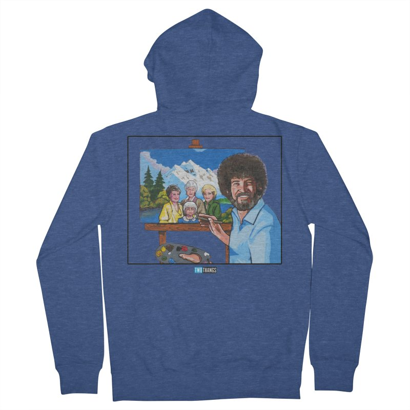 the Golden Girls get their portrait painted Men's Zip-Up Hoody by Two Thangs Artist Shop