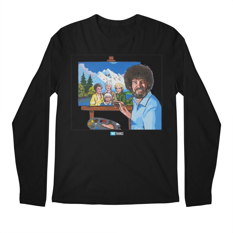 the Golden Girls get their portrait painted Men's Longsleeve T-Shirt by Two Thangs Artist Shop