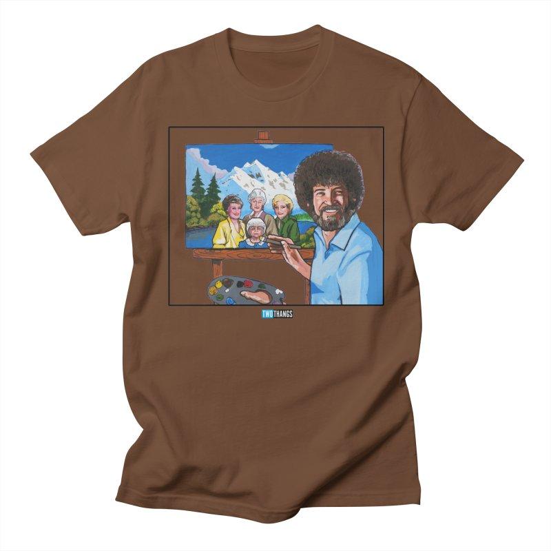 the Golden Girls get their portrait painted Men's Regular T-Shirt by Two Thangs Artist Shop