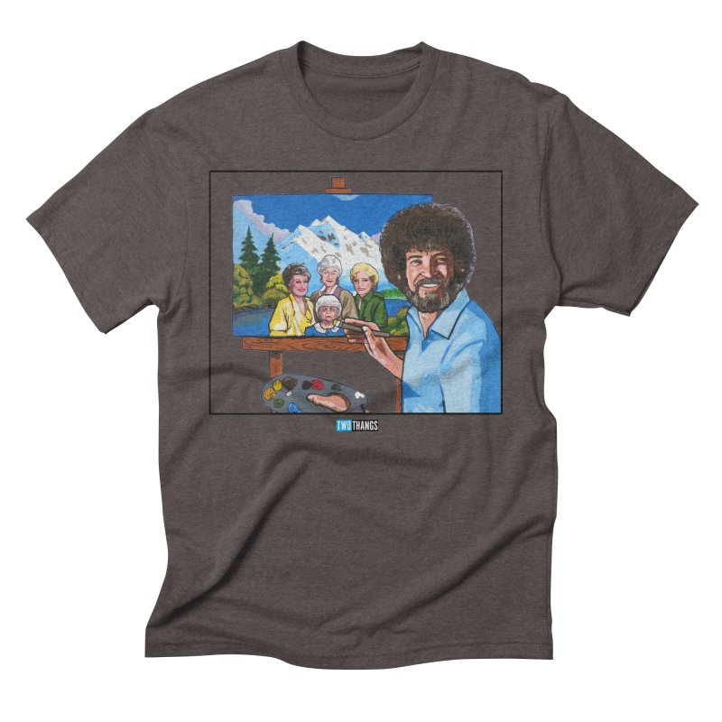 the Golden Girls get their portrait painted Men's Triblend T-Shirt by Two Thangs Artist Shop