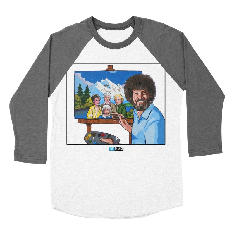 the Golden Girls get their portrait painted Women's Baseball Triblend Longsleeve T-Shirt by Two Thangs Artist Shop