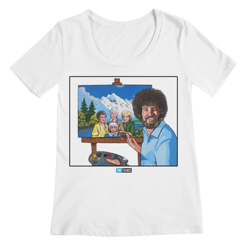 the Golden Girls get their portrait painted Women's Regular Scoop Neck by Two Thangs Artist Shop