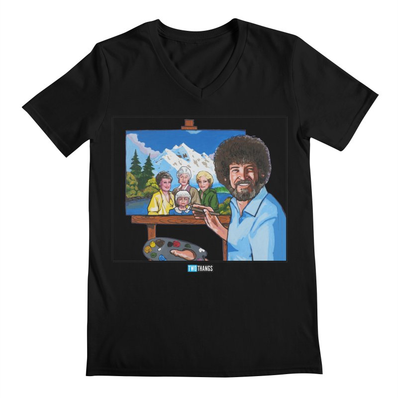 the Golden Girls get their portrait painted Men's Regular V-Neck by Two Thangs Artist Shop
