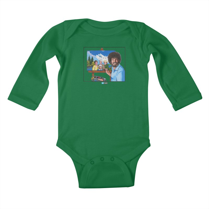 the Golden Girls get their portrait painted Kids Baby Longsleeve Bodysuit by Two Thangs Artist Shop