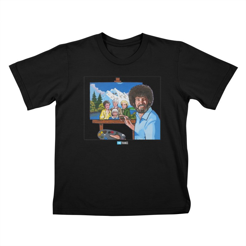 the Golden Girls get their portrait painted Kids T-Shirt by Two Thangs Artist Shop