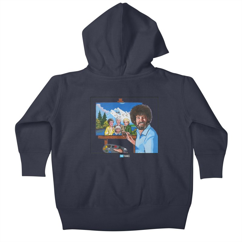 the Golden Girls get their portrait painted Kids Baby Zip-Up Hoody by Two Thangs Artist Shop