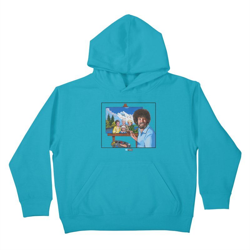 the Golden Girls get their portrait painted Kids Pullover Hoody by Two Thangs Artist Shop