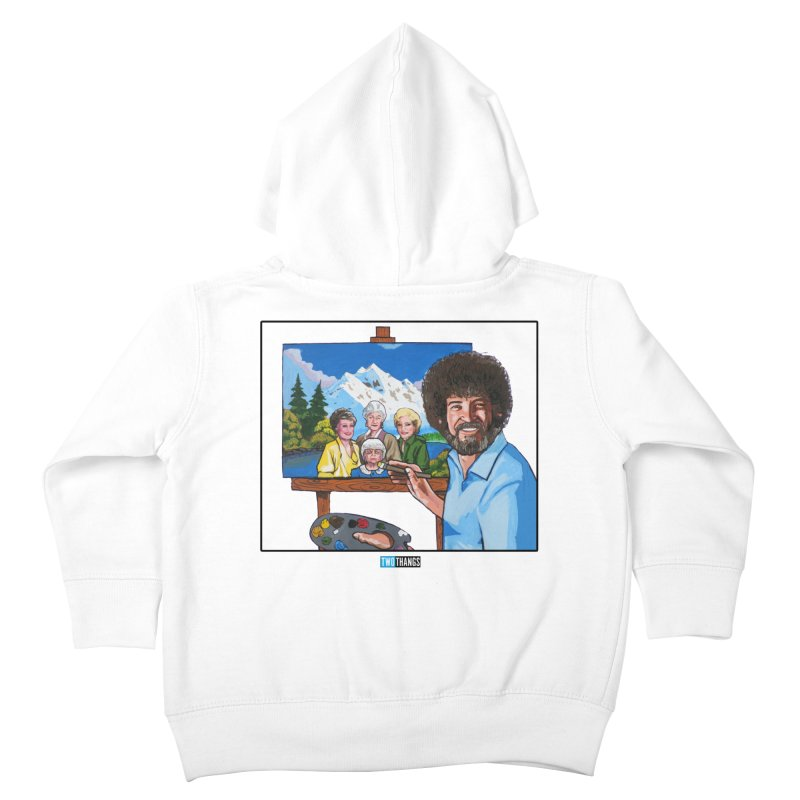 the Golden Girls get their portrait painted Kids Toddler Zip-Up Hoody by Two Thangs Artist Shop