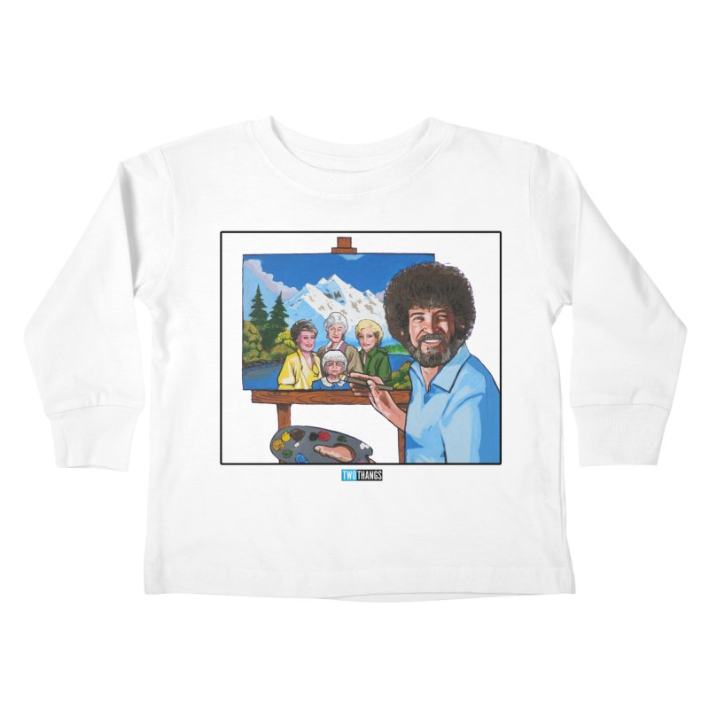 the Golden Girls get their portrait painted Kids Toddler Longsleeve T-Shirt by Two Thangs Artist Shop