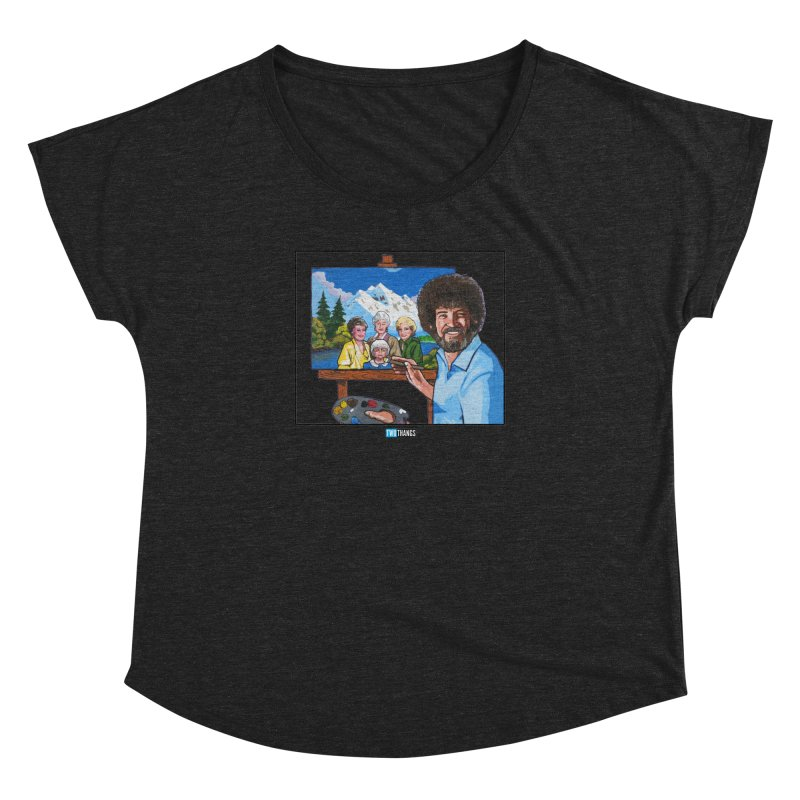the Golden Girls get their portrait painted Women's Dolman Scoop Neck by Two Thangs Artist Shop