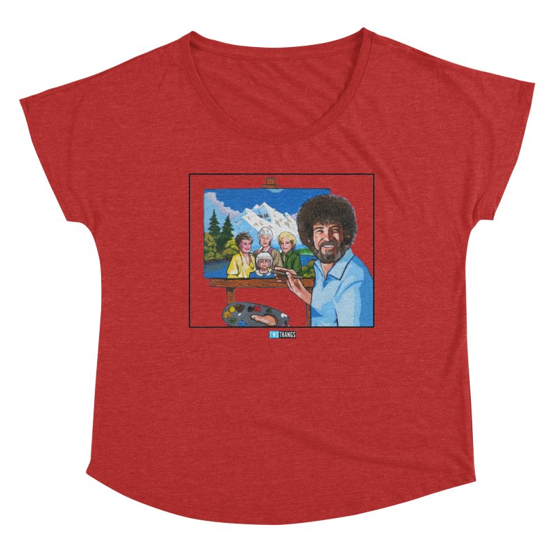 the Golden Girls get their portrait painted Women's Scoop Neck by Two Thangs Artist Shop