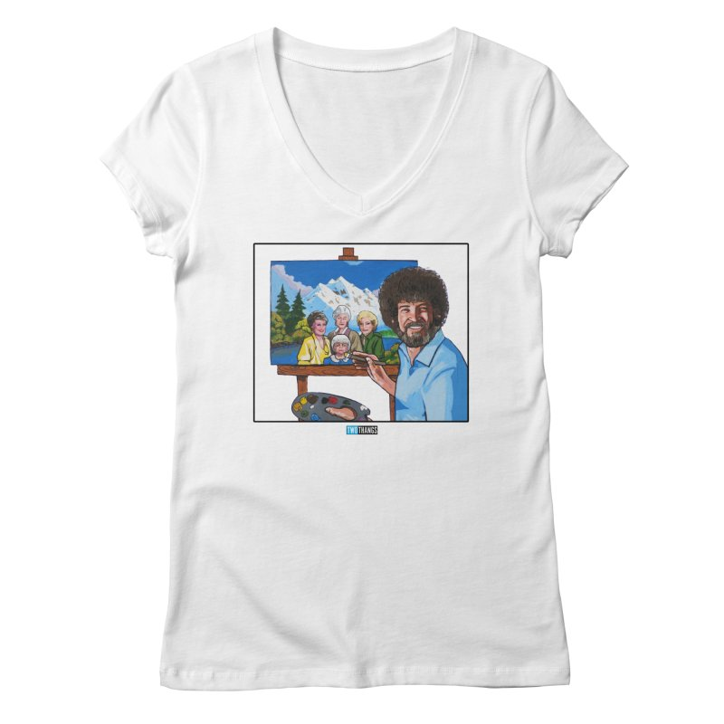 the Golden Girls get their portrait painted Women's Regular V-Neck by Two Thangs Artist Shop