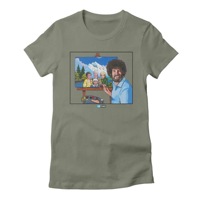 the Golden Girls get their portrait painted Women's Fitted T-Shirt by Two Thangs Artist Shop