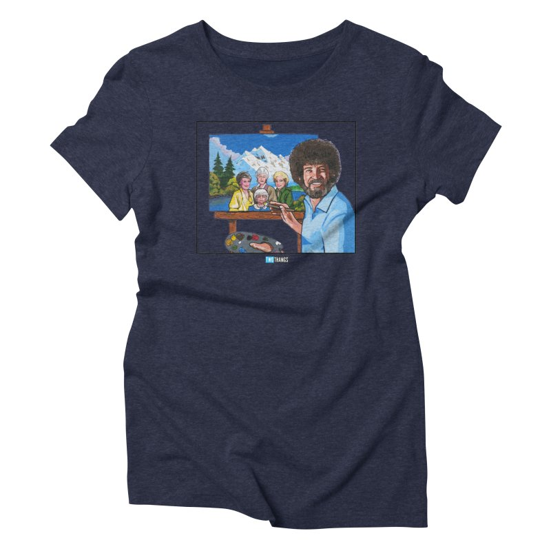 the Golden Girls get their portrait painted Women's Triblend T-Shirt by Two Thangs Artist Shop