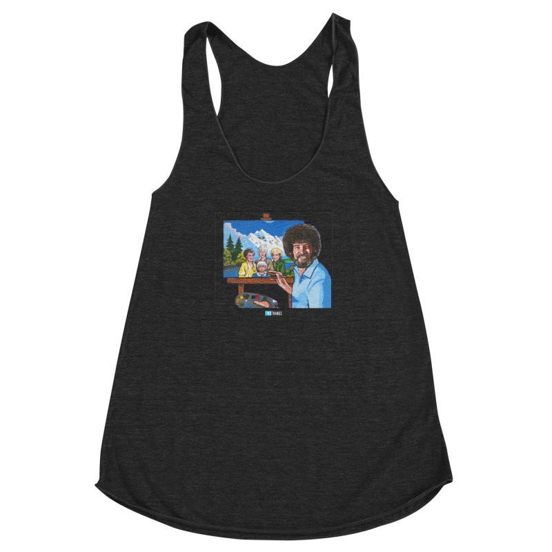 the Golden Girls get their portrait painted Women's Racerback Triblend Tank by Two Thangs Artist Shop
