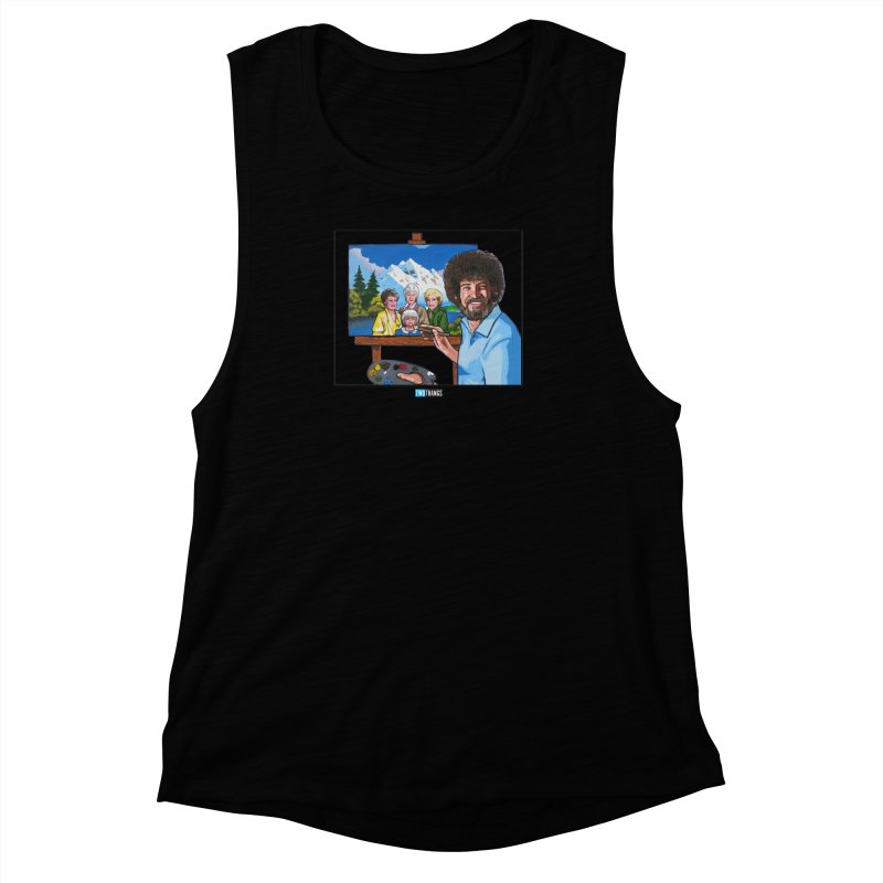 the Golden Girls get their portrait painted Women's Muscle Tank by Two Thangs Artist Shop