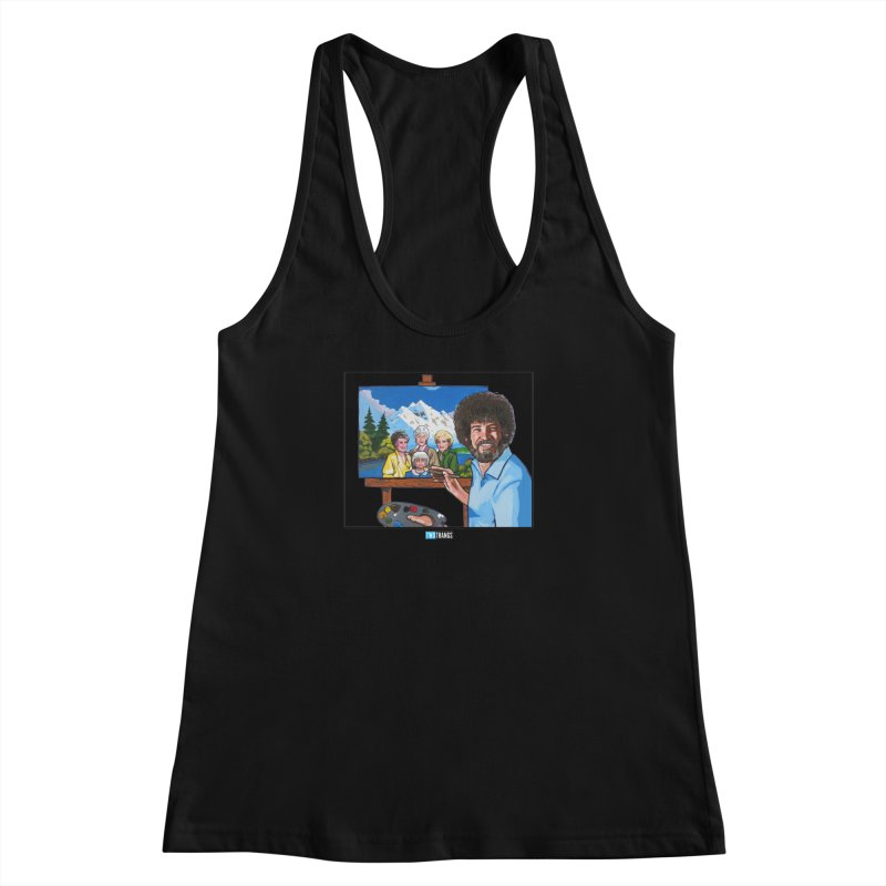 the Golden Girls get their portrait painted Women's Racerback Tank by Two Thangs Artist Shop