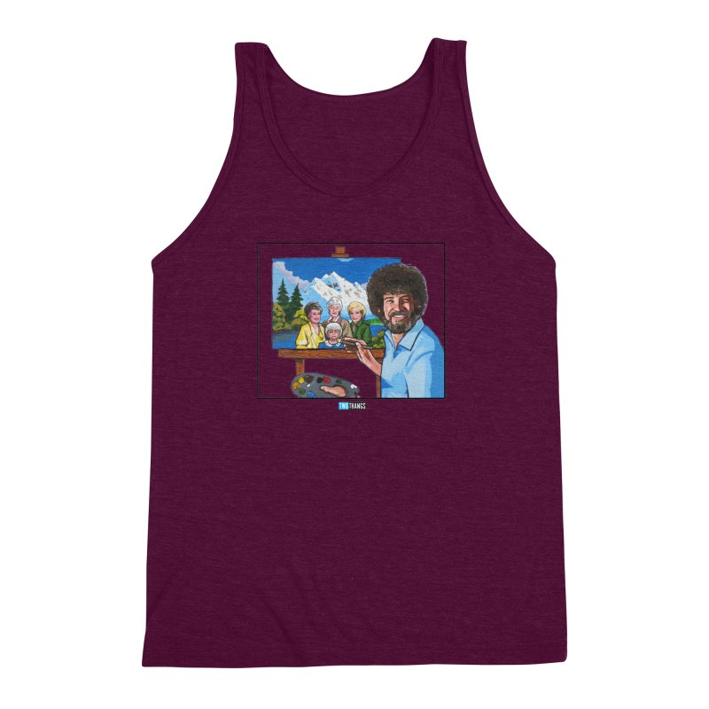 the Golden Girls get their portrait painted Men's Triblend Tank by Two Thangs Artist Shop
