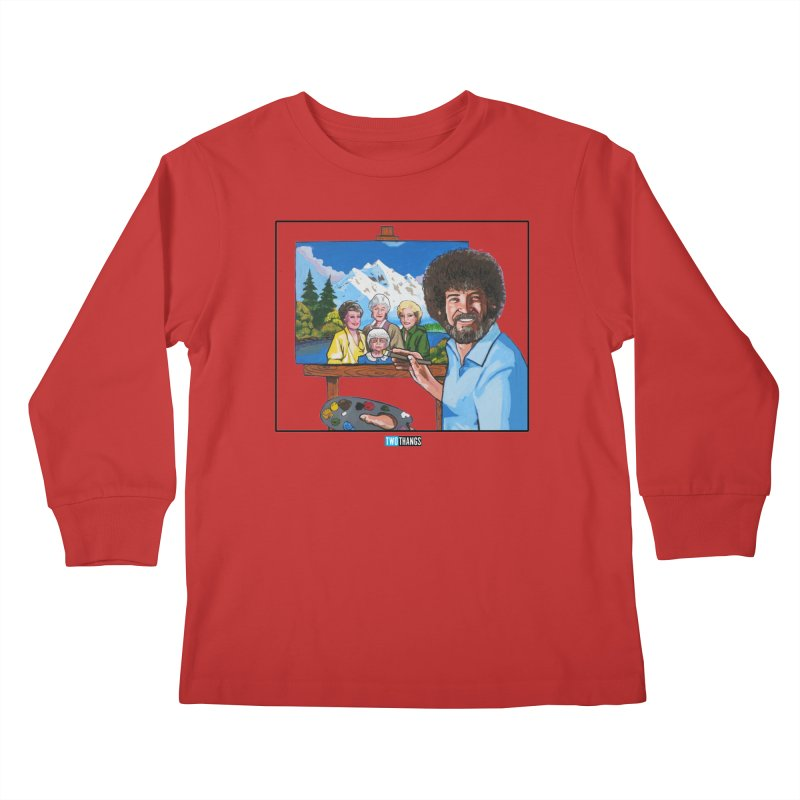 the Golden Girls get their portrait painted Kids Longsleeve T-Shirt by Two Thangs Artist Shop
