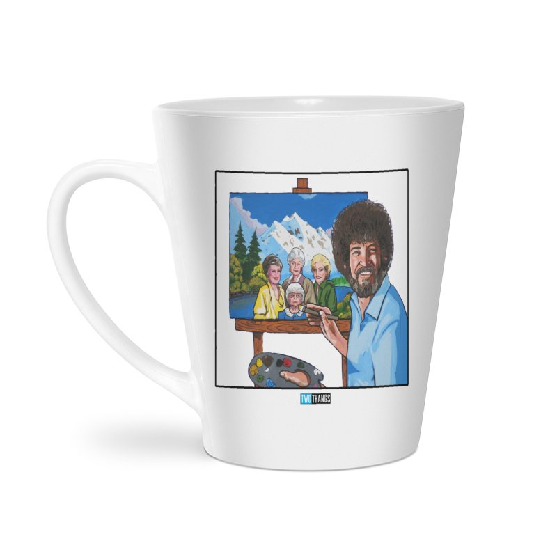 the Golden Girls get their portrait painted Accessories Latte Mug by Two Thangs Artist Shop