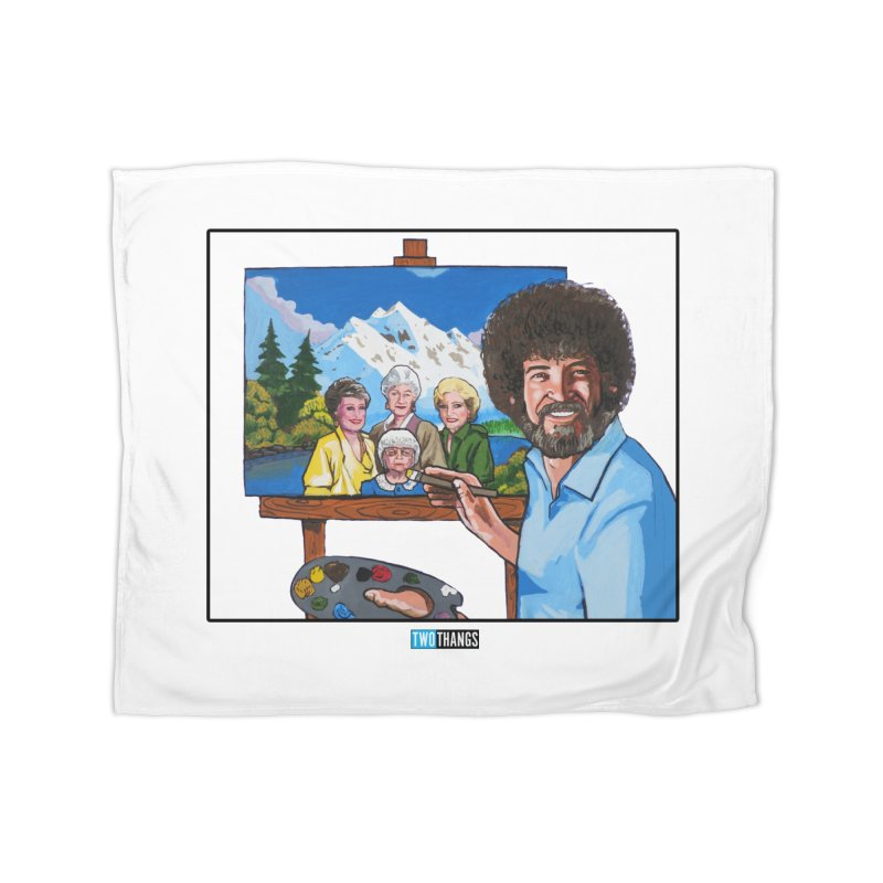 the Golden Girls get their portrait painted Home Fleece Blanket Blanket by Two Thangs Artist Shop