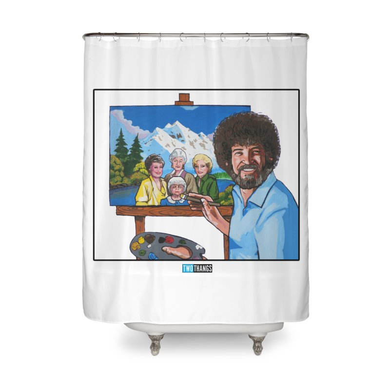 the Golden Girls get their portrait painted Home Shower Curtain by Two Thangs Artist Shop