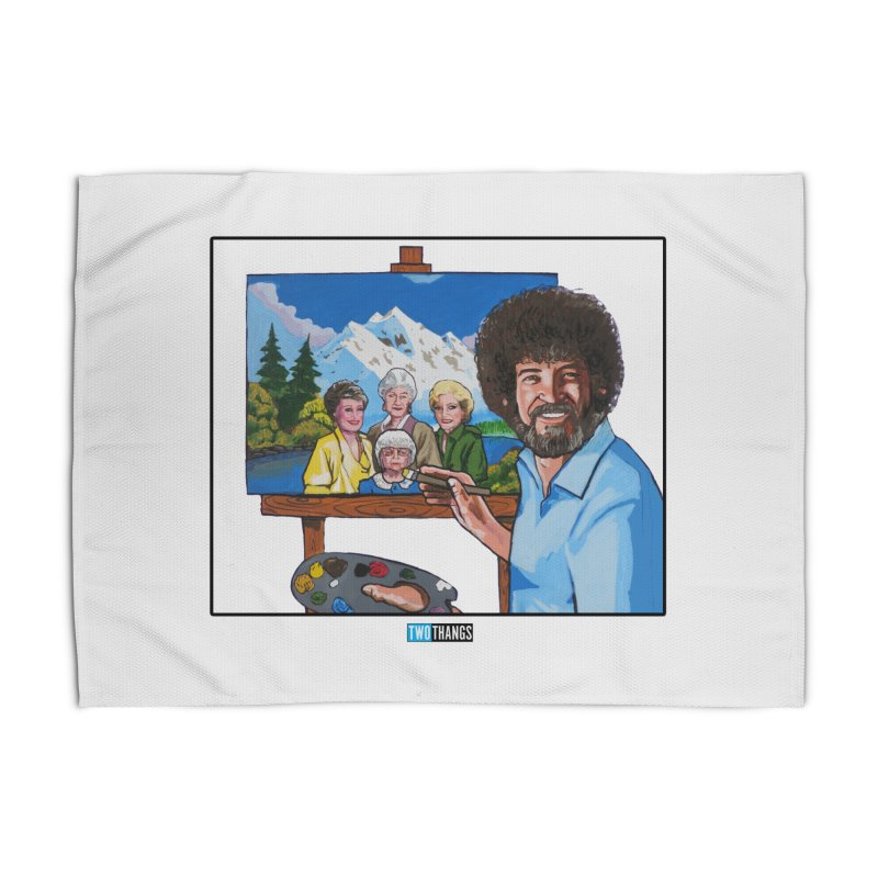 the Golden Girls get their portrait painted Home Rug by Two Thangs Artist Shop