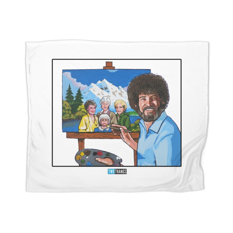 the Golden Girls get their portrait painted Home Blanket by Two Thangs Artist Shop